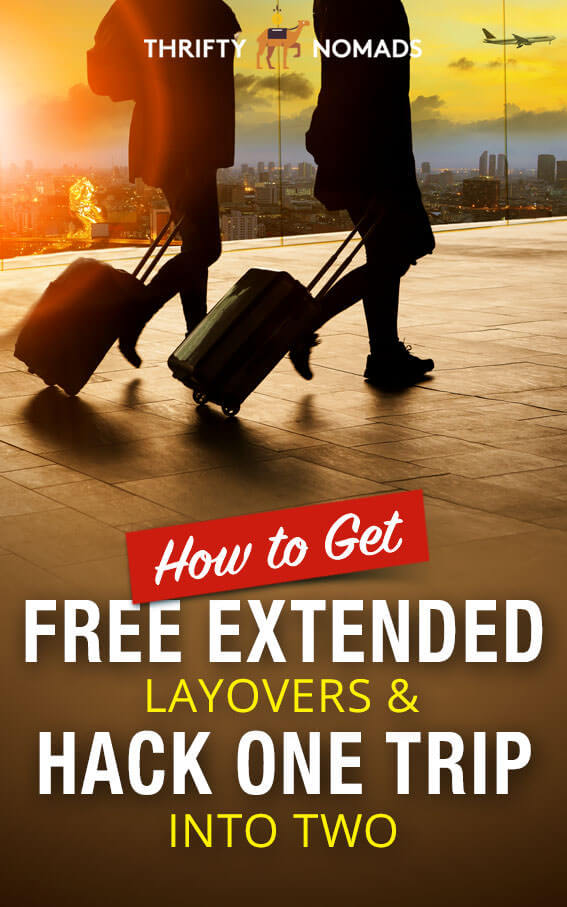 Want to make an extra trip on your next holiday? These airlines offer FREE extended layovers. #budgettravel #travelhacking #cheapflights #flightlayover