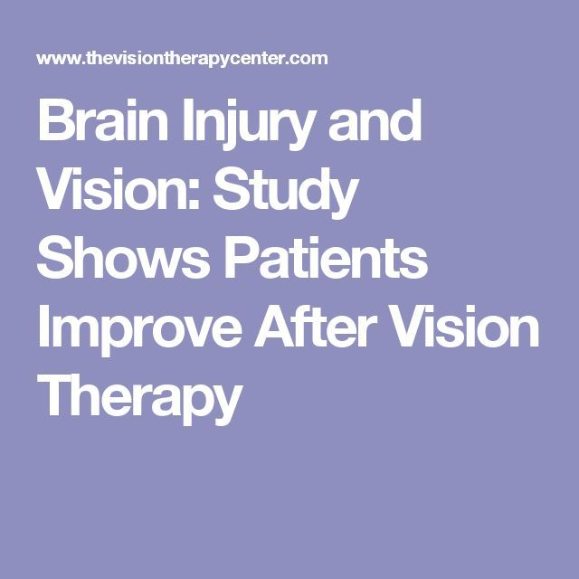 Brain Injury And Vision: Study Shows Patients Improve