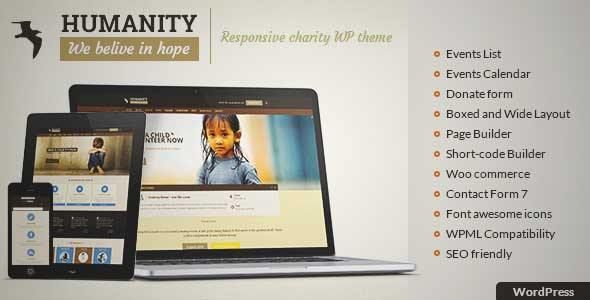 Download and review of Humanity NGO Charity \ NGO WordPress - ngo templates