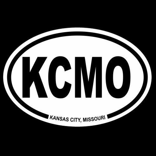 Kcmo kansas city missouri car truck oval decal bumper sticker window laptop