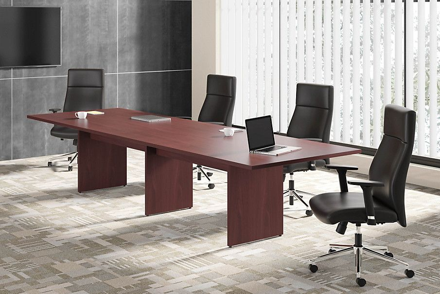 Basyx By HON BL Series Conference Table With HVL Conference Chair - Hon racetrack conference table