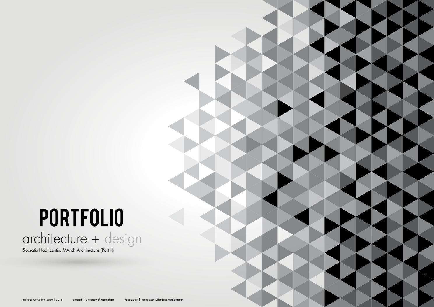 Academic Portfolio Architecture Design Portfolio Portfolio
