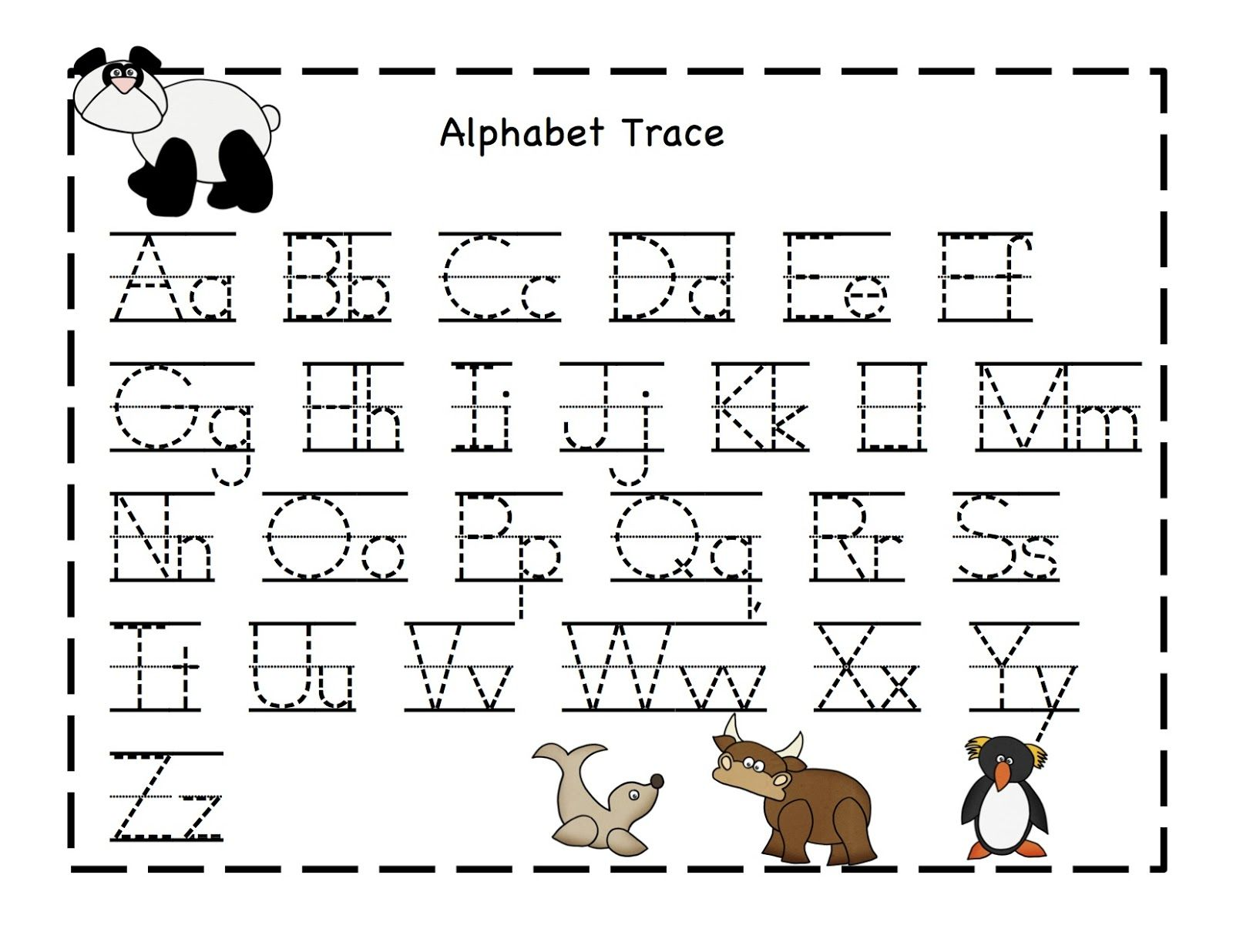 Alphabet Printables Sheets : Kiddo Shelter : Alphabet and Numbers Learning : Pinterest ...