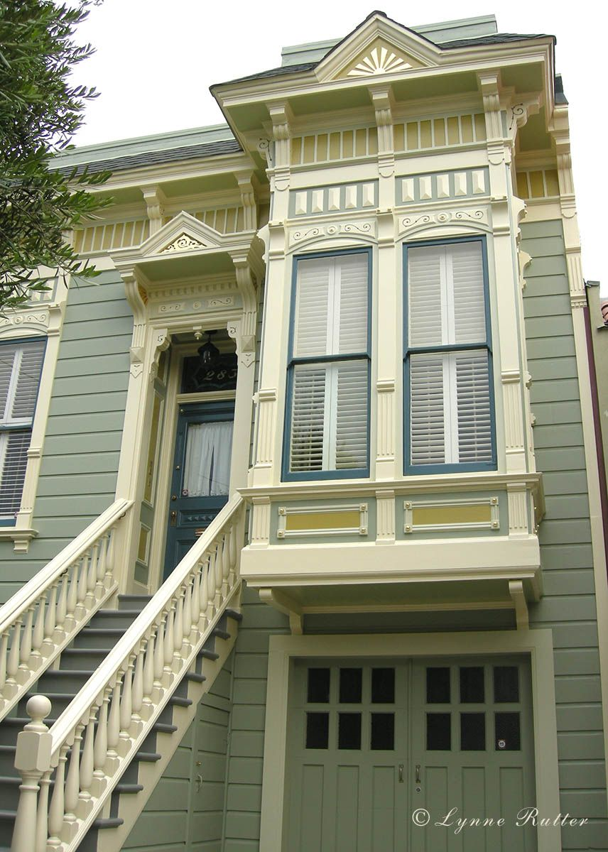Pretty house in SF with paint scheme by Lynne Rutter using BM ...