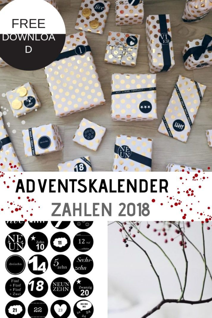 Adventskalender Zahlen 2018 – kostenloser Download #adventskalendermann