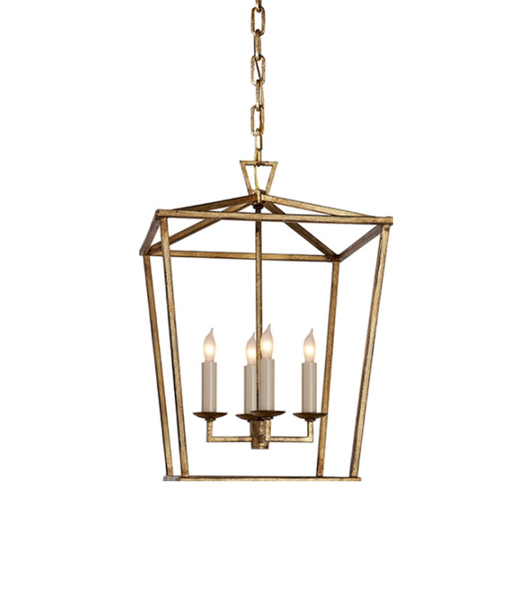 Small Darlana Lantern Gilded Gold lighting