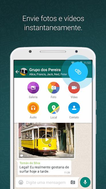 WhatsApp Messenger Apps no Google Play em 2020 Enviar