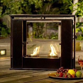 Wesley Indoor/ Outdoor Portable Fireplace | Overstock.com Shopping ...