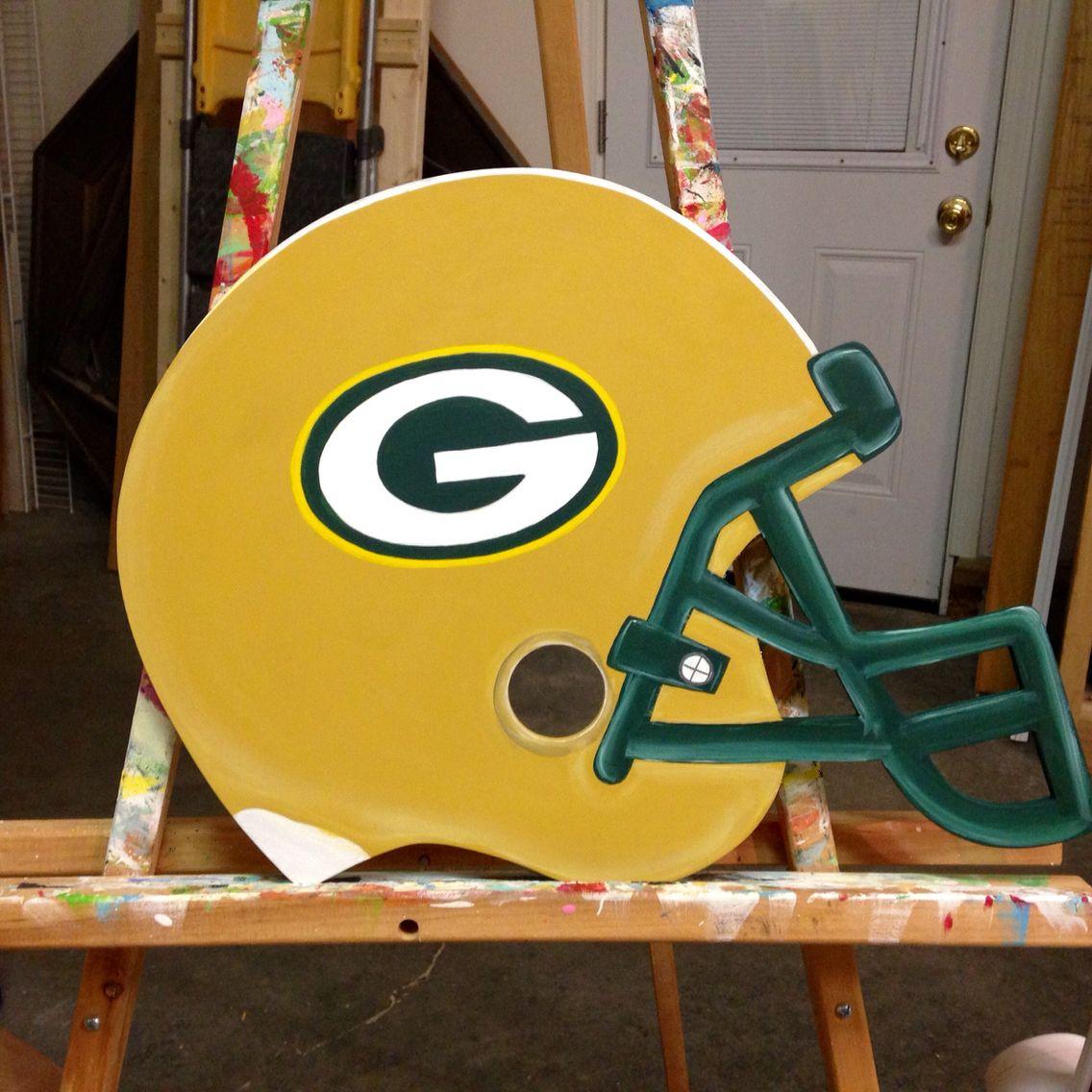 Special Order For Christmas Gift Green Bay Packer Helmet Door Hanger Wood Hangers Diy Door Front Porch Decorating