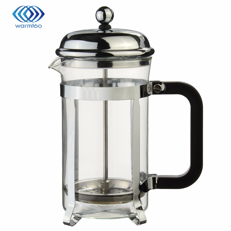 Pot People Quality Steel Flower Directly From China Simulator Suppliers Sliver French Press Coffee Maker Cafetiere Cup Frame
