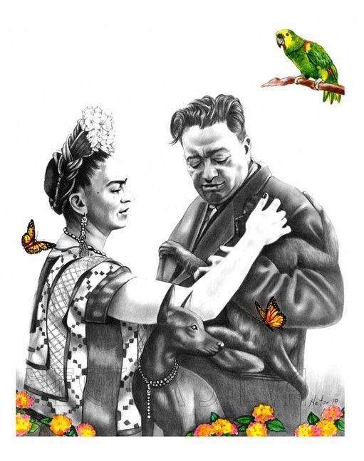 hector Silva - Frida and Diego (Oh Happy Days)