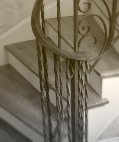 Ornate wrought iron banister