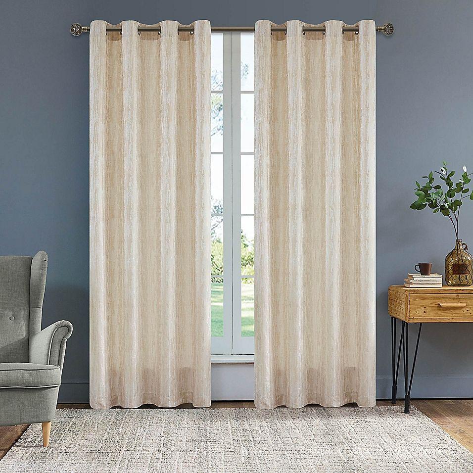 Serena 54 Grommet Window Curtain Panel In Cream Curtains
