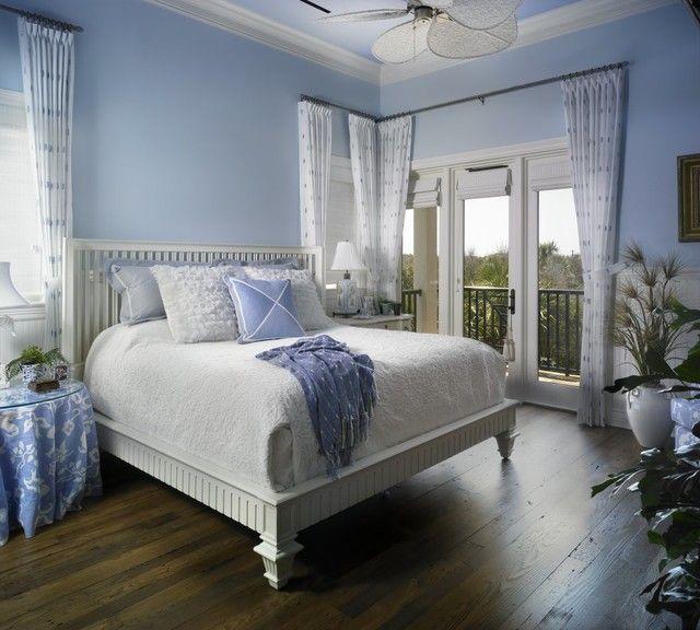 16 Beach Style Bedroom Decorating Ideas Design Blue Walls