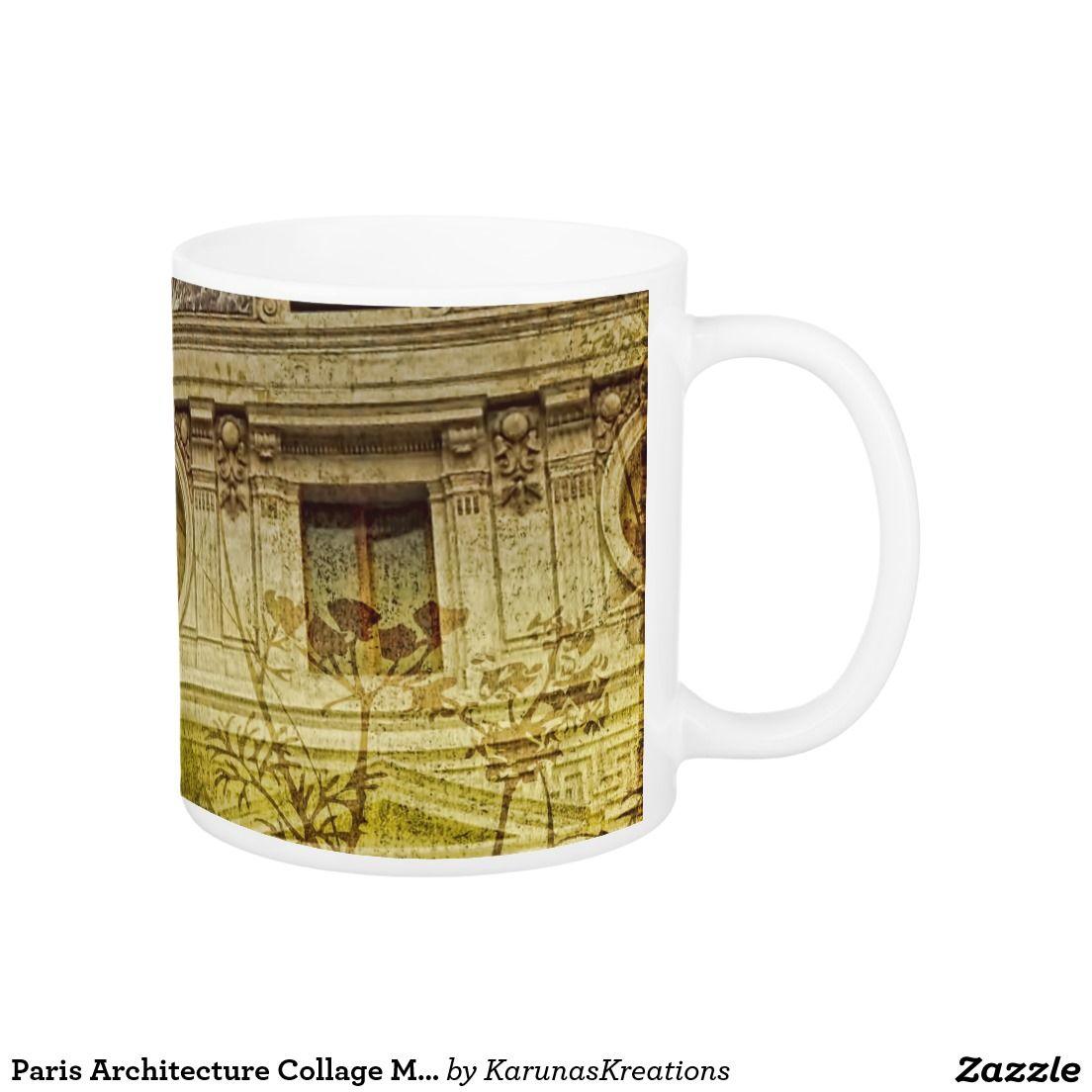 Paris Architecture Collage Mug