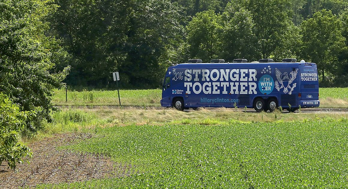 Image result for clinton 2016 bus