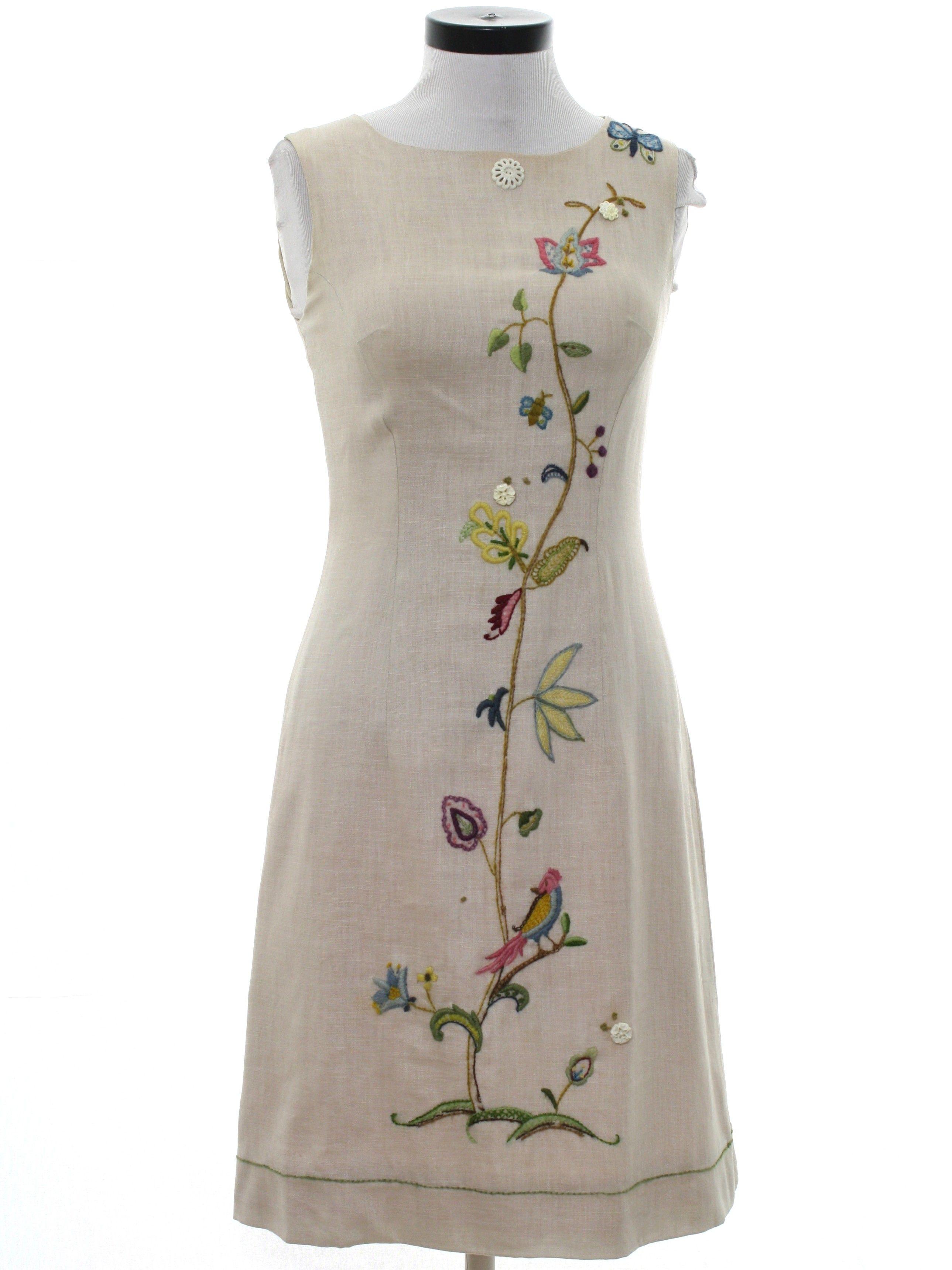 1960's Dress #birdfabric