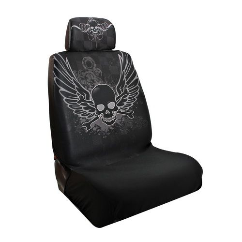 Skull Car Seat Covers Tiki Girl Low Back Seat Cover I