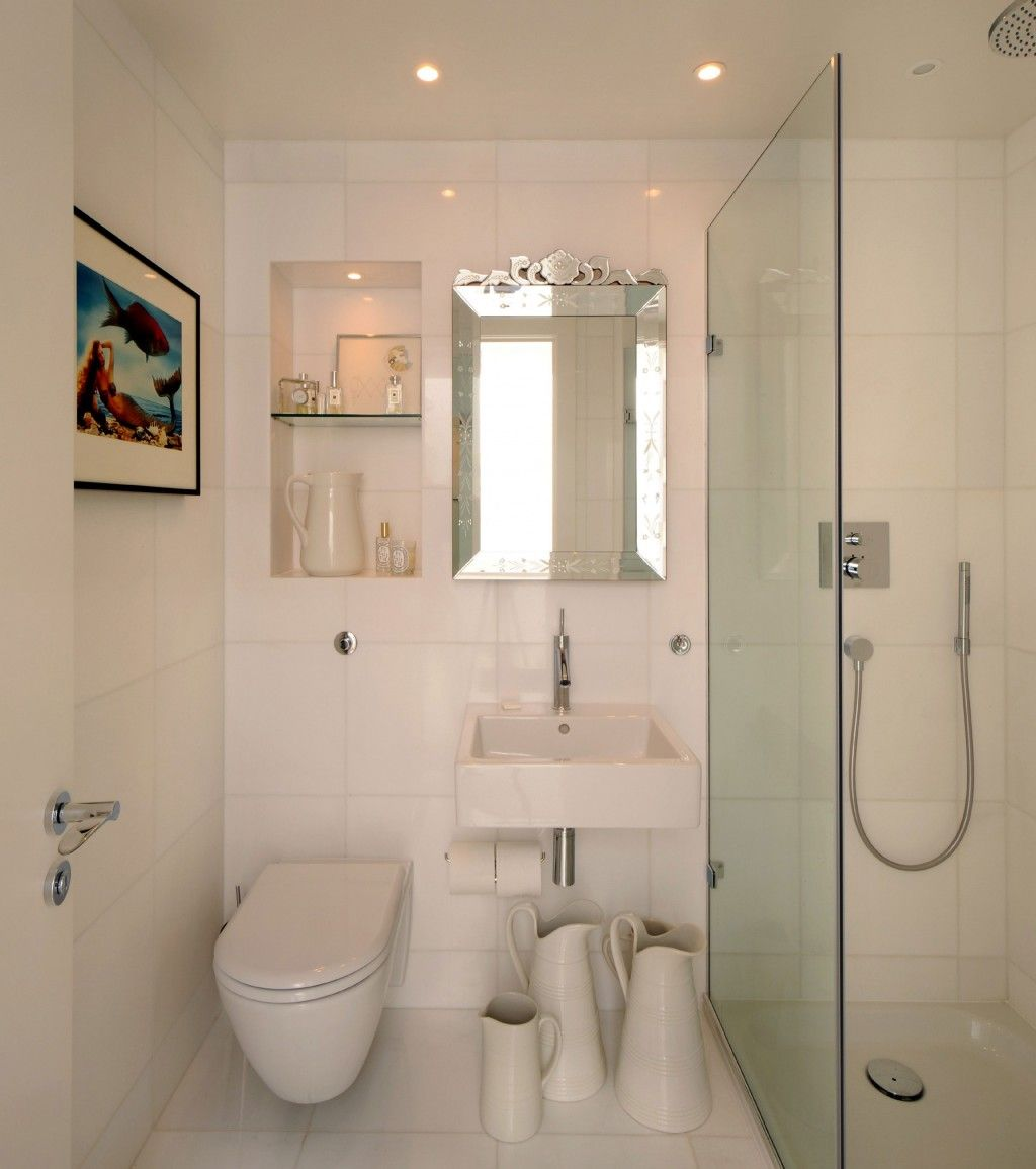 Luxury White Bathroom Design With Tankless White Wall Hung Toilets And Glass Shower Corner Scandinavian