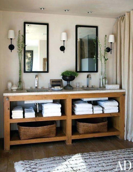 61 Bathroom Vanity With Shelf Rustic Bathrooms Double Vanity Bathroom Rustic Bathroom Vanities