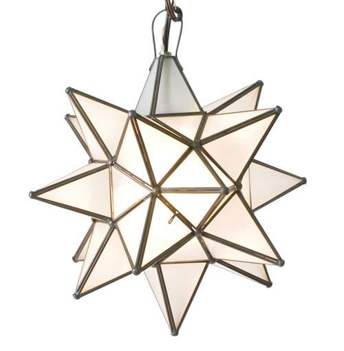 Pottery Barn Polaris: Polaris Hollywood Regency Star Frosted Glass Pendant