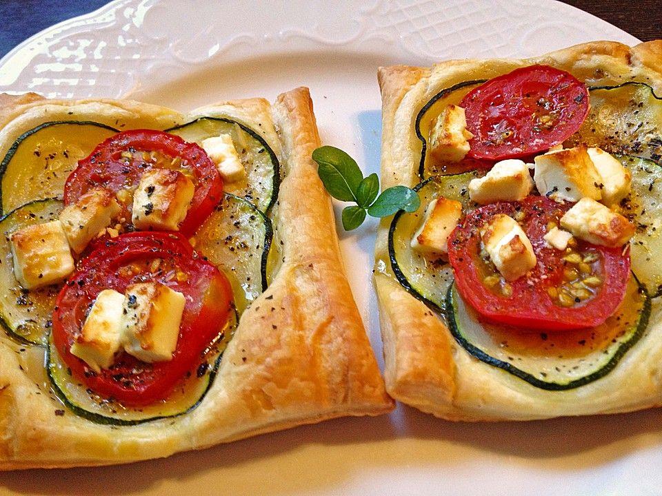 Blätterteig mit Tomate, Zucchini und Feta Feta rezepte - chefkoch schnelle küche