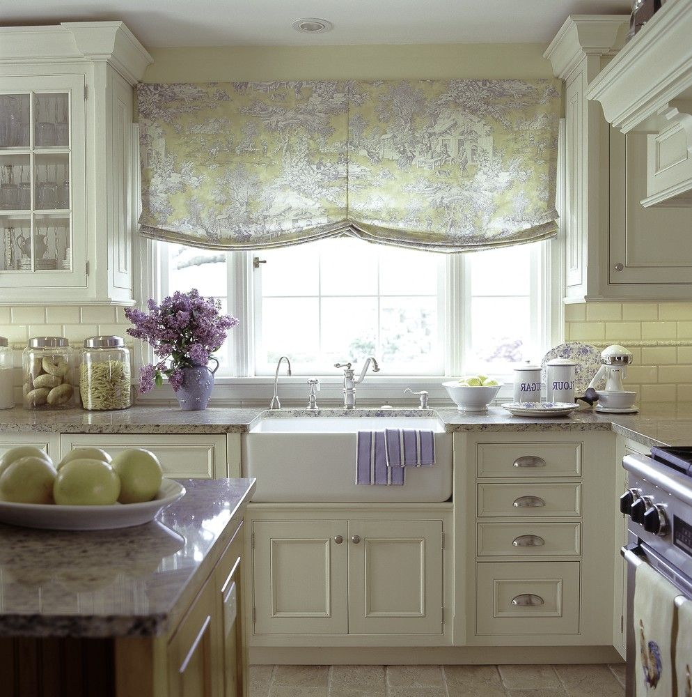 white french country kitchen with purple.jpg (994×1000) | cuisine ...
