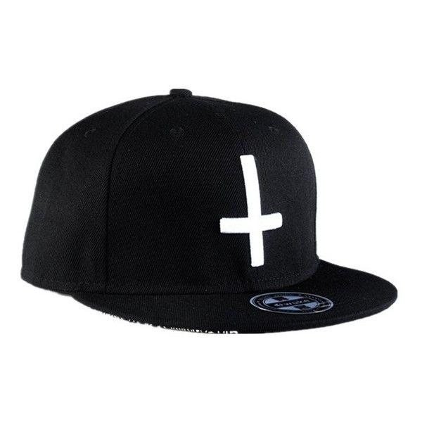 Unisex Hip Hop Baseball Flat Bill Hats Snapback Hip-Hop Adjustable...  ( 6.57) ❤ liked on Polyvore featuring accessories 3b02dd5fb9f6