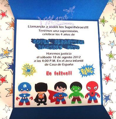 Frase Para Tarjeta De Cumpleaños De Super Héroes Dulces En