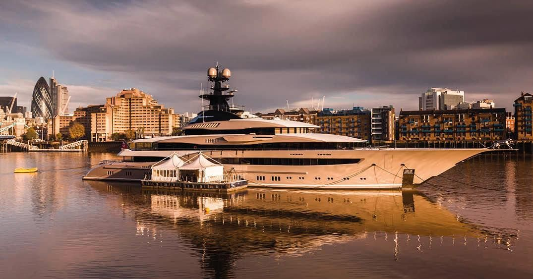 The beautiful M/Y Kismet a 95.2 meter Lurssen built in 2014. Feels right at home in London or anywhere else for that matter.  For charter starting at 1.200.000 per week.  Charter@moravia.mc  #moraviayachting #yacht #superyacht #luxury #luxurylife #boat #adventure #kismet #wealth #followme #party #likeforlike #love #beautiful #wishlist #instagood #follow #followme #photooftheday #beautiful #summer #fun #like #boat #sea #lifestyle #design #blue #modern #city #charter #london #millions by…