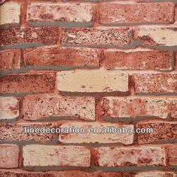 Pin By Krystil Painter On Renter Friendly Design Brick Design Redo Cabinets Vinyl Wallpaper