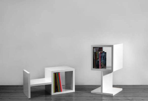 """With these unique bookshelf units, redecorating your living room has never been easier. Combine as many of these """"OH"""" shelves as you need and arrange them in the form you like."""