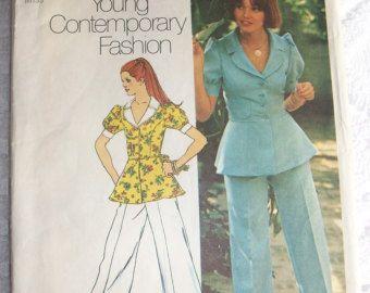 Vintage Simplicity 1973 Pantsuit Pattern