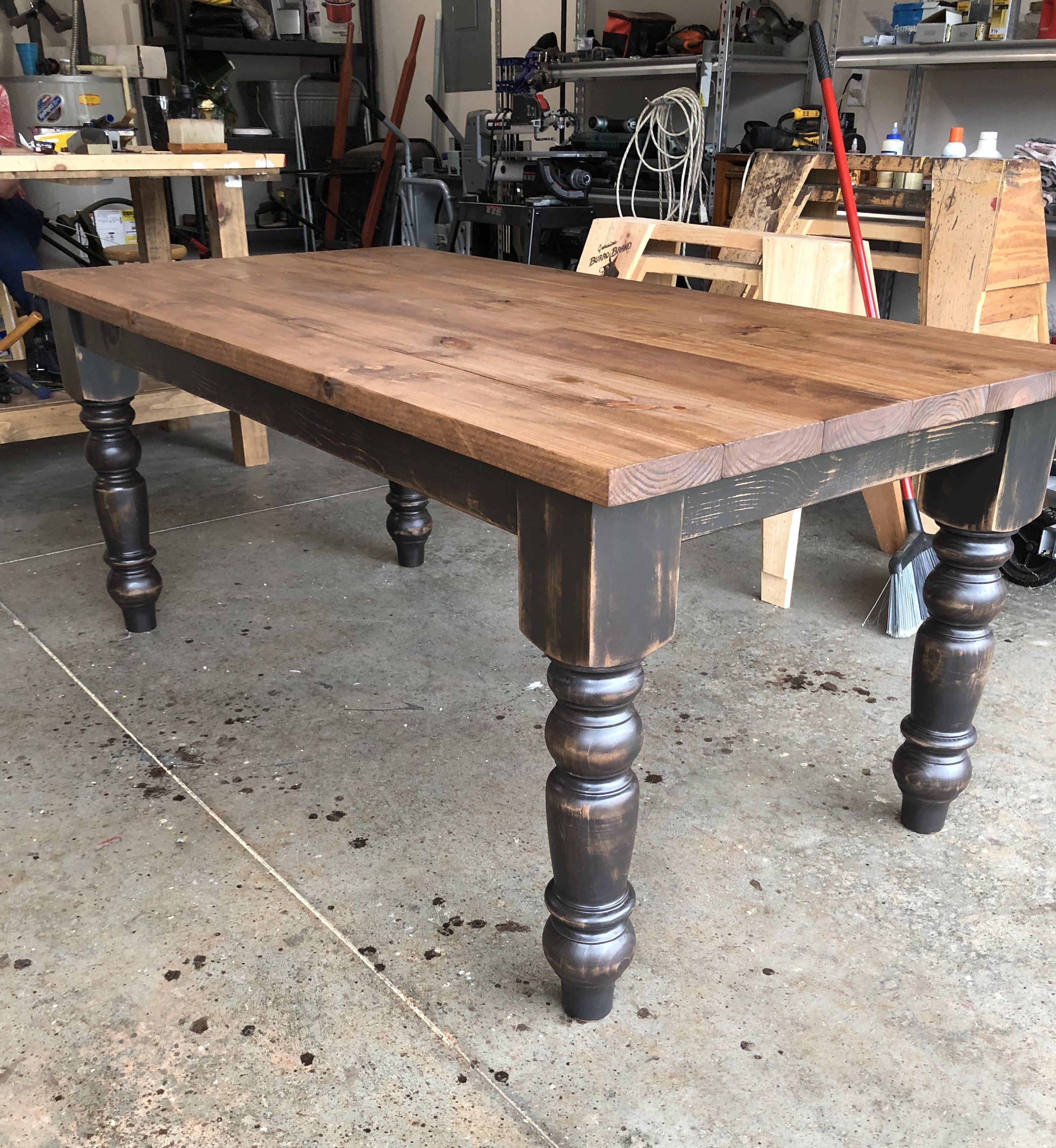 6' hamilton farmhouse table  rustic dining table