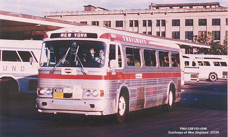 GMC: GM PD-4106 Trailways | trolleys, etc  | Road train, Peter pan