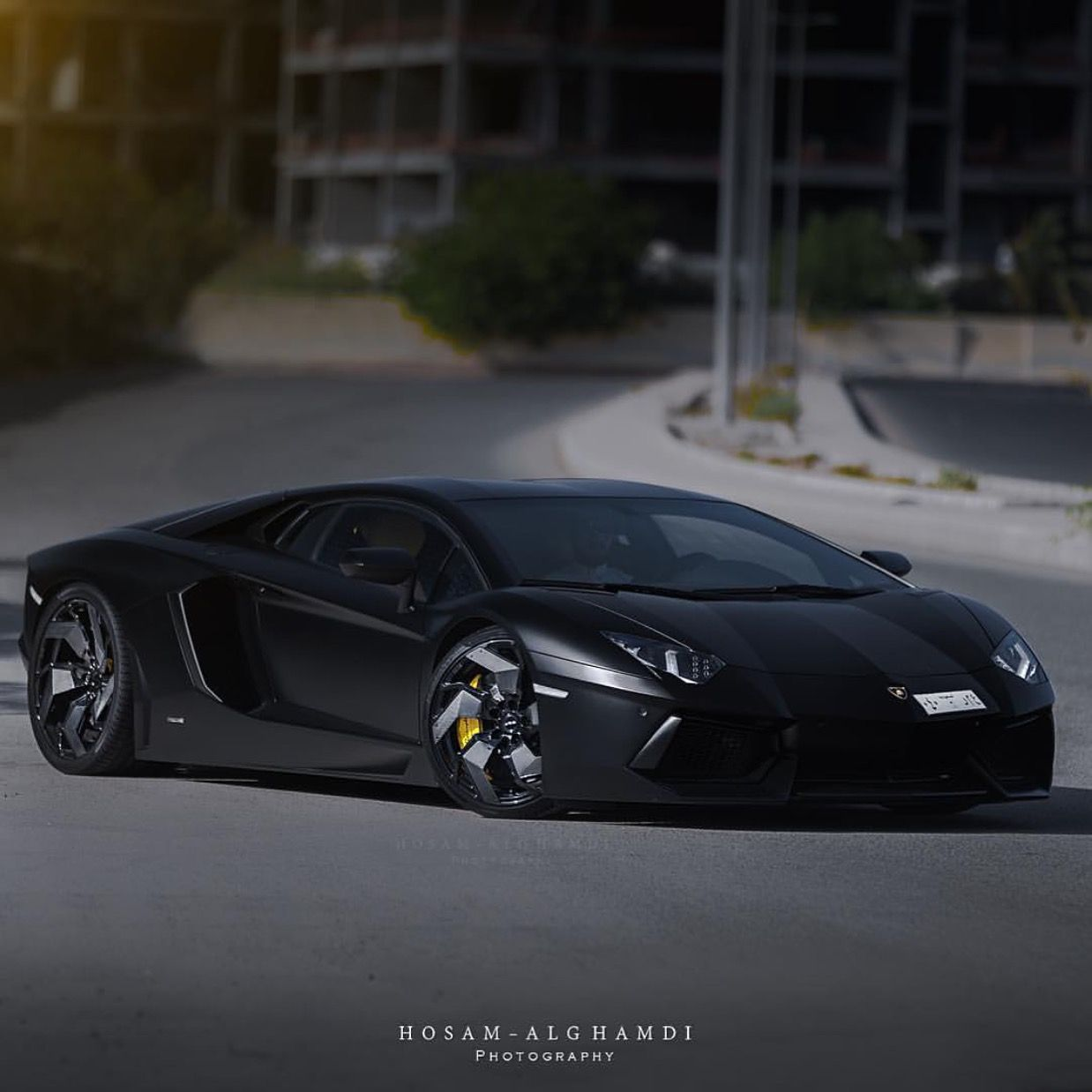 Lamborghini Aventador Coupe Painted In Nero Nemesis W A Set Of