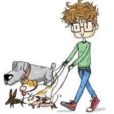 Risultati immagini per dog sitter disegno