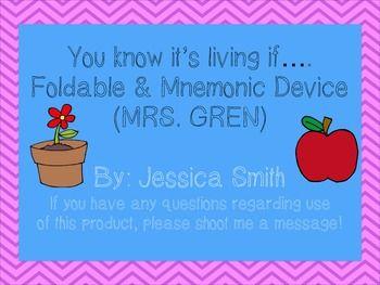 characteristics of living things mrs gren