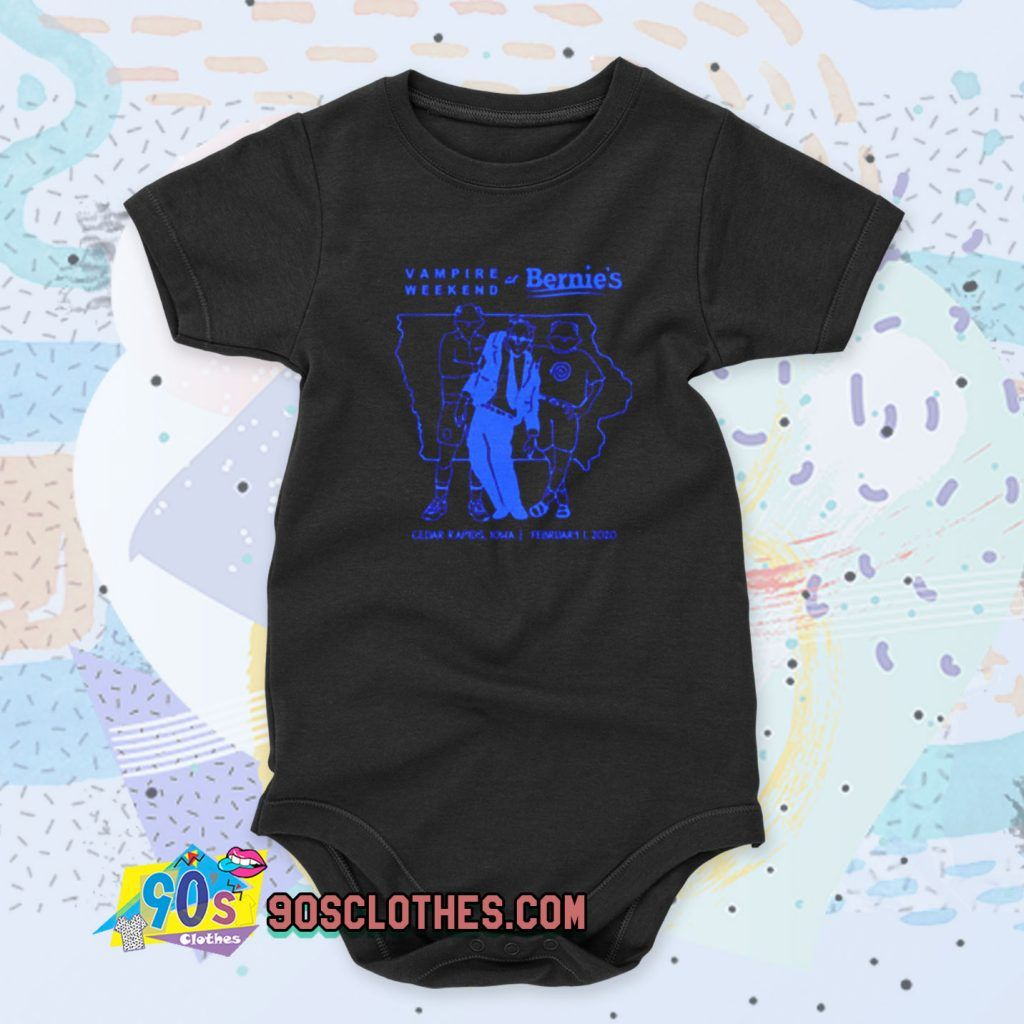 Vampire Weekend At Bernie S Tour Cool Baby Onesie Baby Clothes 90sclothes Com Baby Onesies Cool Baby Stuff Cotton Baby Clothes