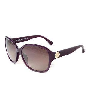 cee06aa554709 Love this Michael Kors Pomegranate   Gold Detail Rectangle Sunglasses by Michael  Kors on  zulily!  zulilyfinds