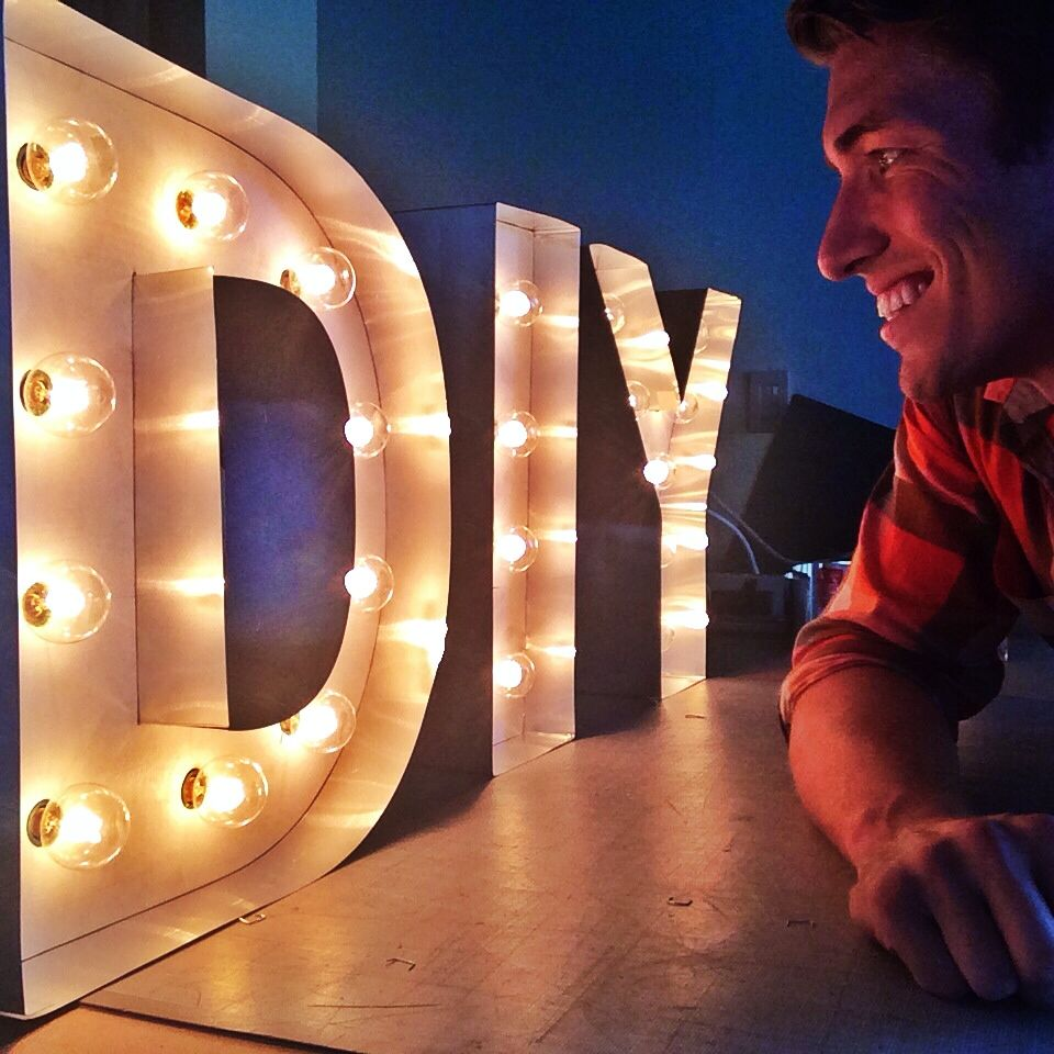 DIY Marquee Letter Light Up Lights | Robeson Design Studios