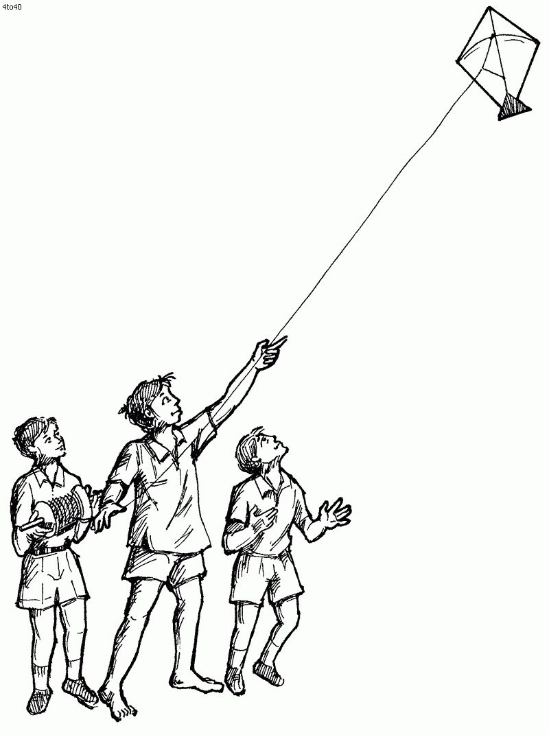 Drawing Of Makar Sankranti Free Kite Coloring Pages ...