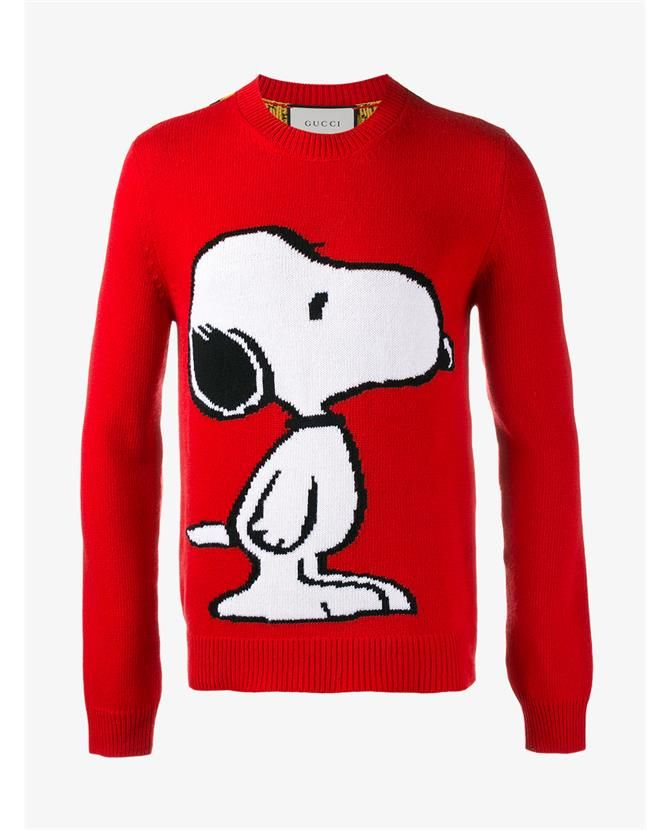 017ef4e6e09 GUCCI Snoopy Wool Jumper