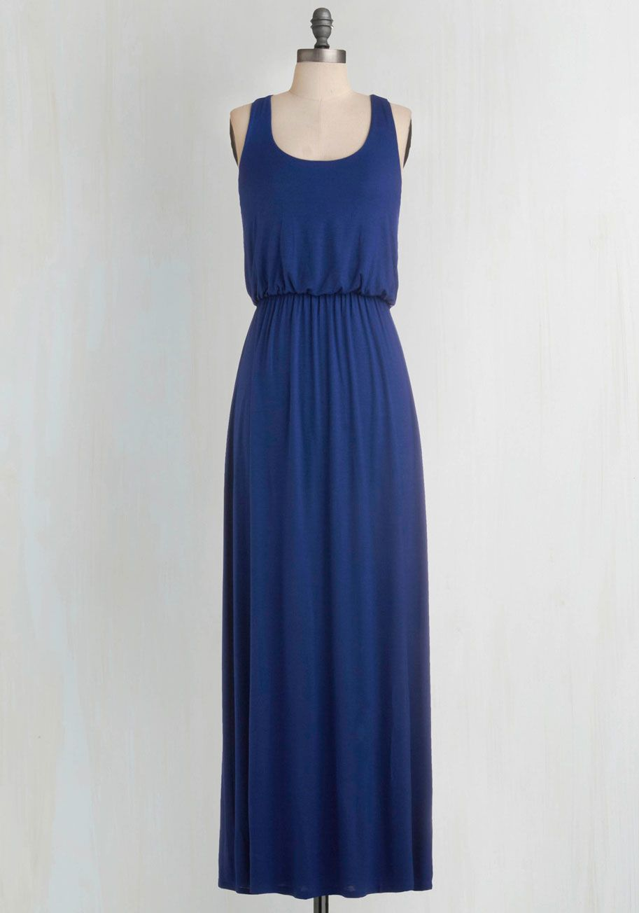 Modcloth moon black and blue dress