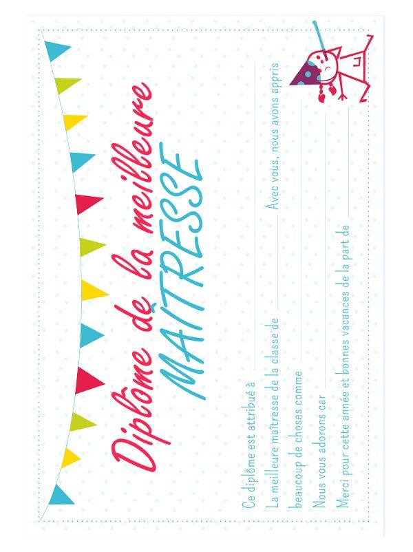 Diplome De La Meilleure Maitresse Cadeau Maitresse Fin D Annee