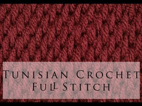 Tunisian Crochet Full Stitch. YouTube video by Angela Lynn. IMO, this stitch would be especially good for potholders (using cotton yarn), as it has a thick texture. Really nice.