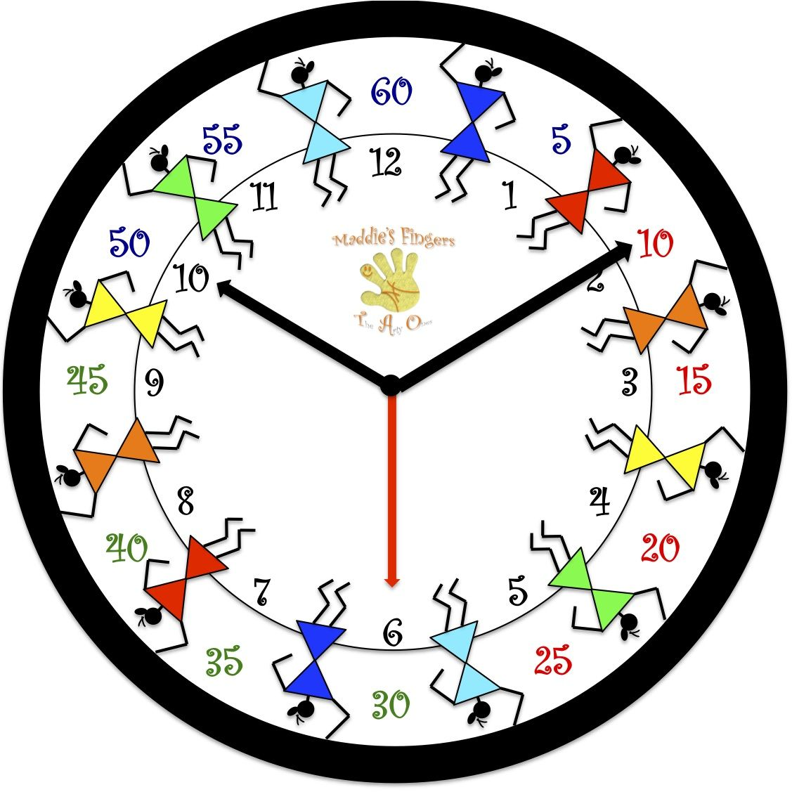 Colorful Warli Wall Clock