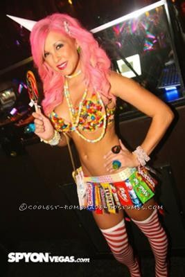 Sexy home made candy costumes
