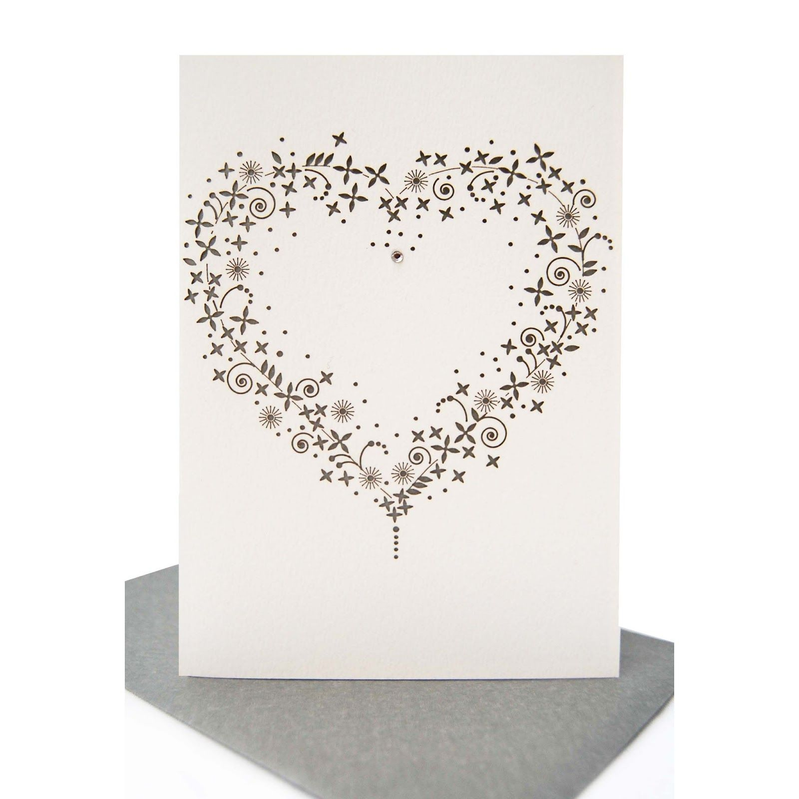 Flower Heart Lasercut Valentines Card rockvilladesignscouk – Valentines Cards Uk