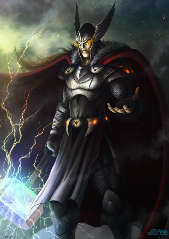 artwork gods lightning marvel - photo #18